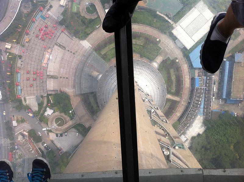 suelo de cristal torre perla oriente shanghai