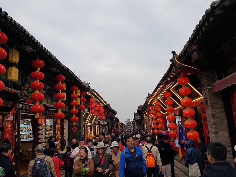 Calle Ming-Qing, uno de los lugares que ver en Pingyao en un día