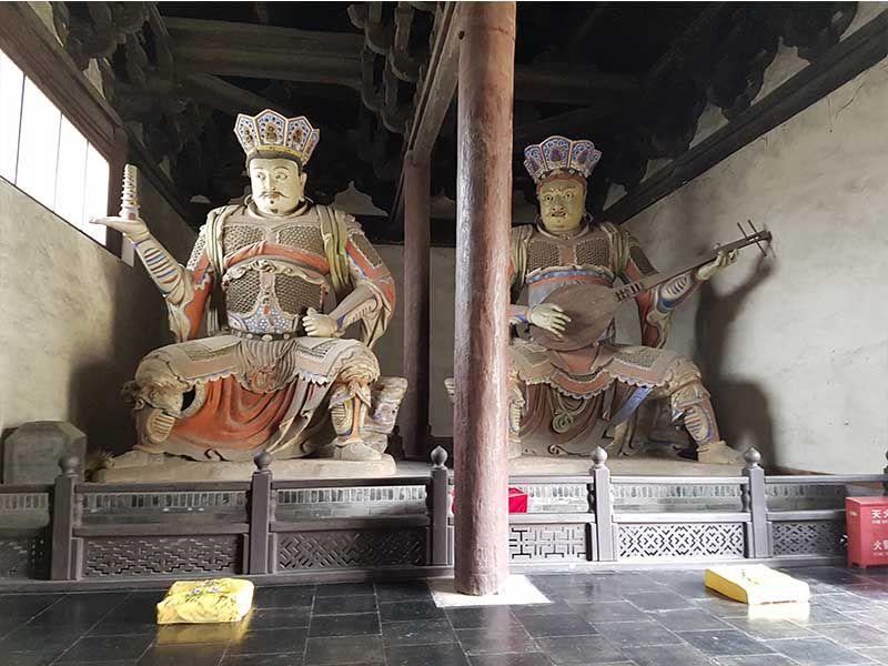 Cuatro Guerreros Celestiales en Shanhua