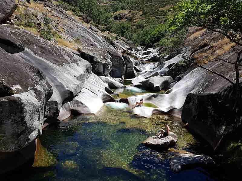 Los Pilones del Valle del Jerte en Extremadura en verano