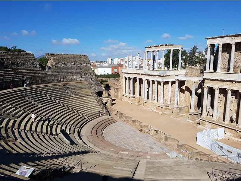 El teatro romano de Mérida, lugar a visitar en verano en Extremadura