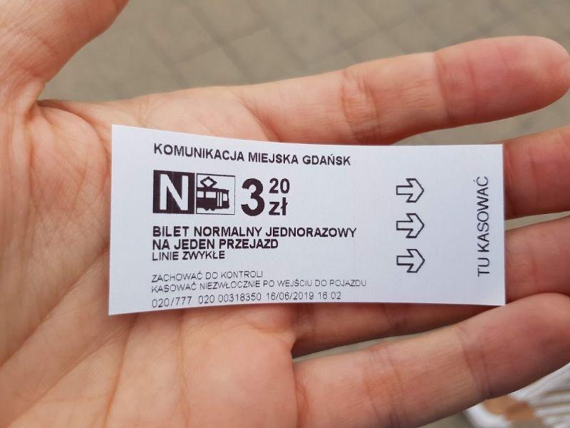 ticket bus gdansk
