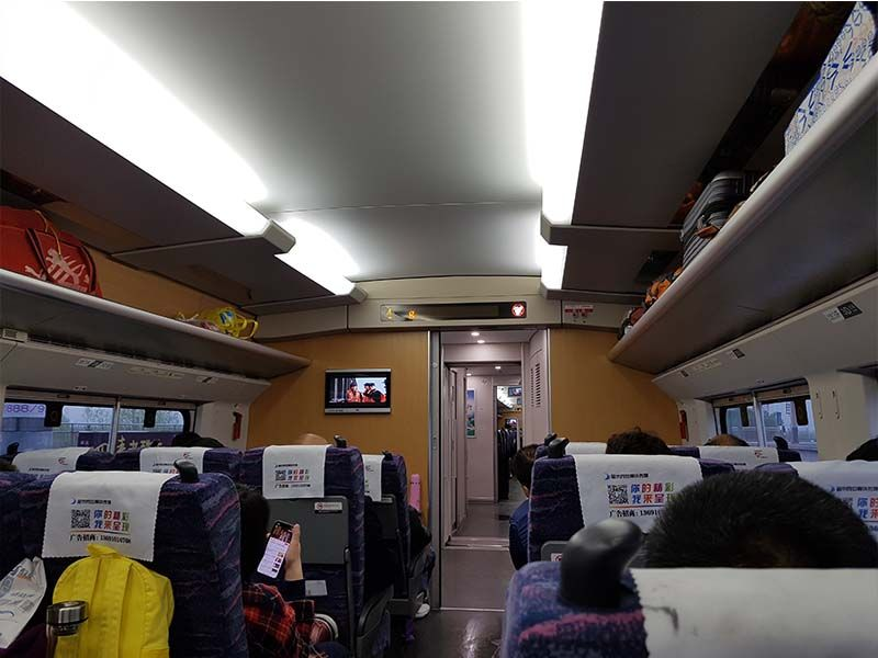 Tren de Pingyao a Xian