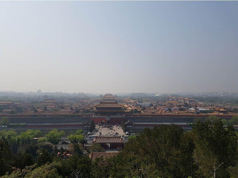 Vistas de la Ciudad Prohibida desde el Parque Jinshang