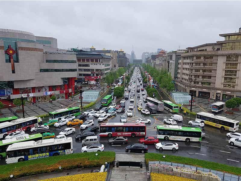 Vistas de Xian desde la Torre de la Campana