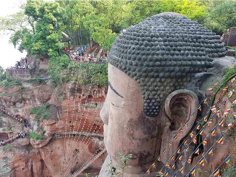Cabeza del Gran Buda de Leshán