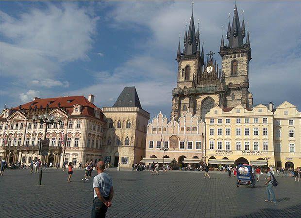Centro de Praga, uno de los lugares más turísticos