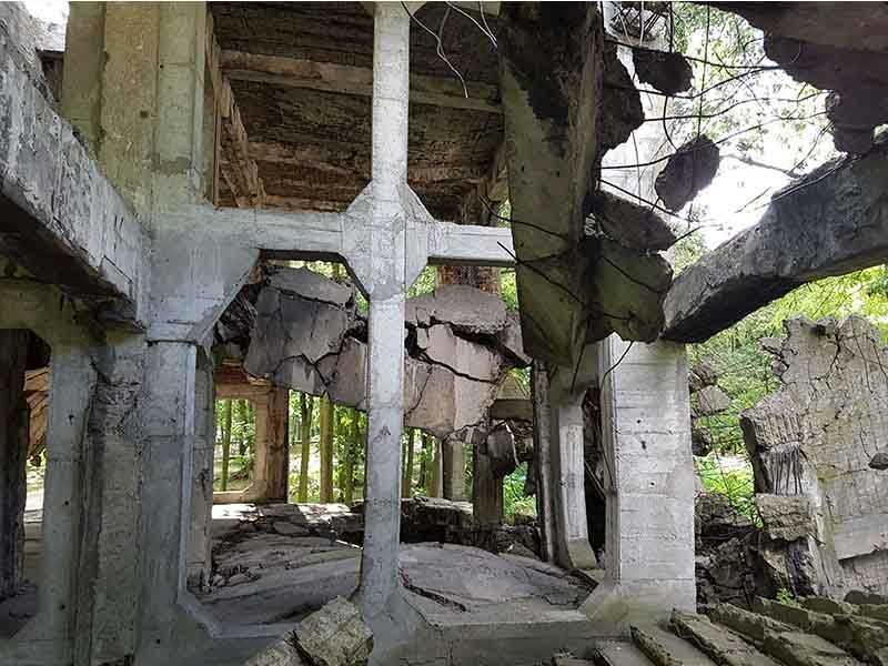 Edificio destruido en Westerplatte