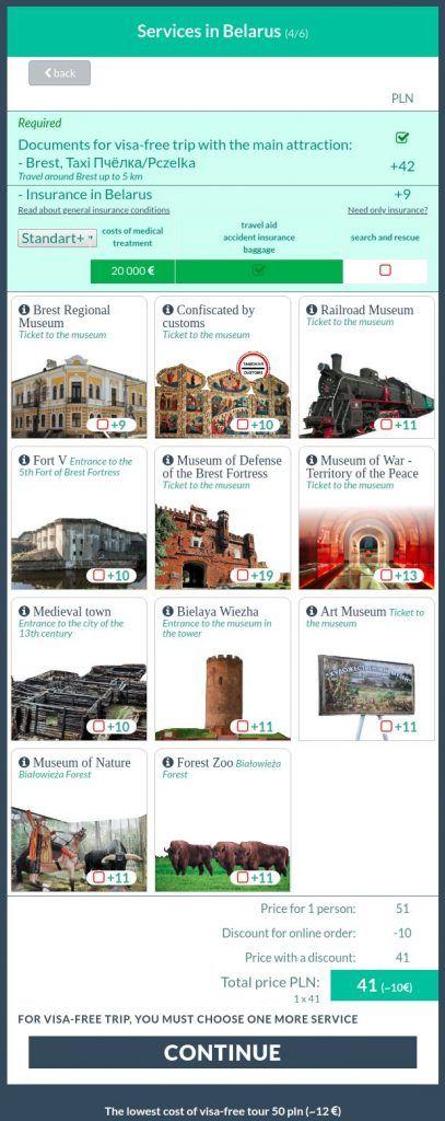 seleccion servicios brest bielorrusia