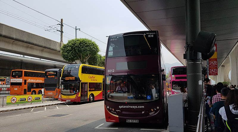 Autobús A21 del aeropuerto de Hong Kong al centro