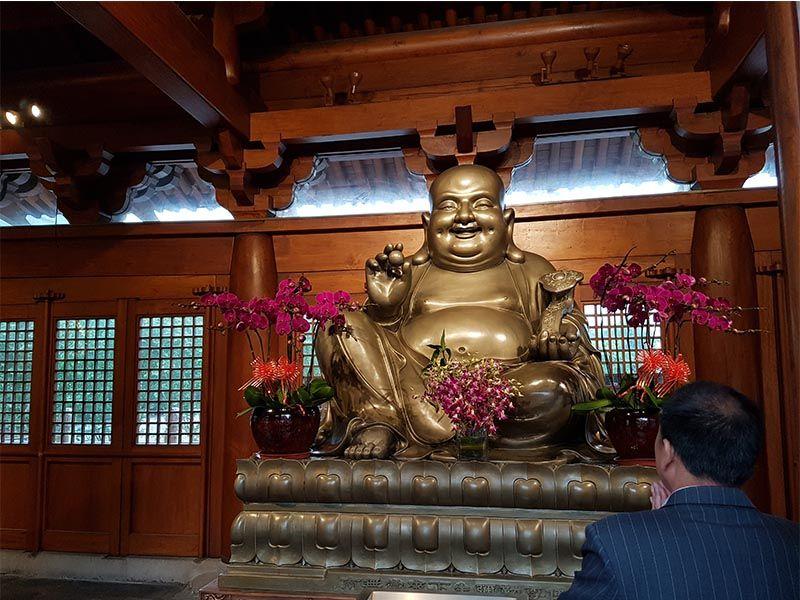Buda de Jade en el templo Jing'an de Shanghái