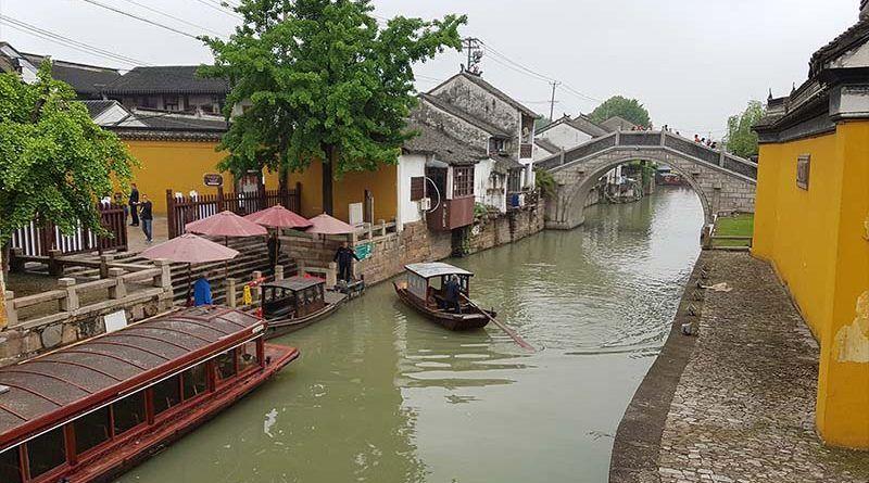 Canales cerca de la colina del tigre, algo que ver en Suzhou