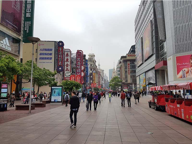 Centro de Shanghái, zona donde sacar dinero del cajero en China