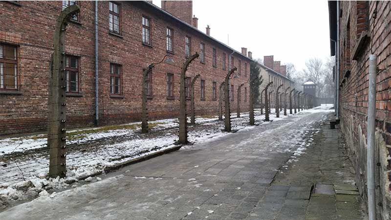 Parte interior de Auschwitz