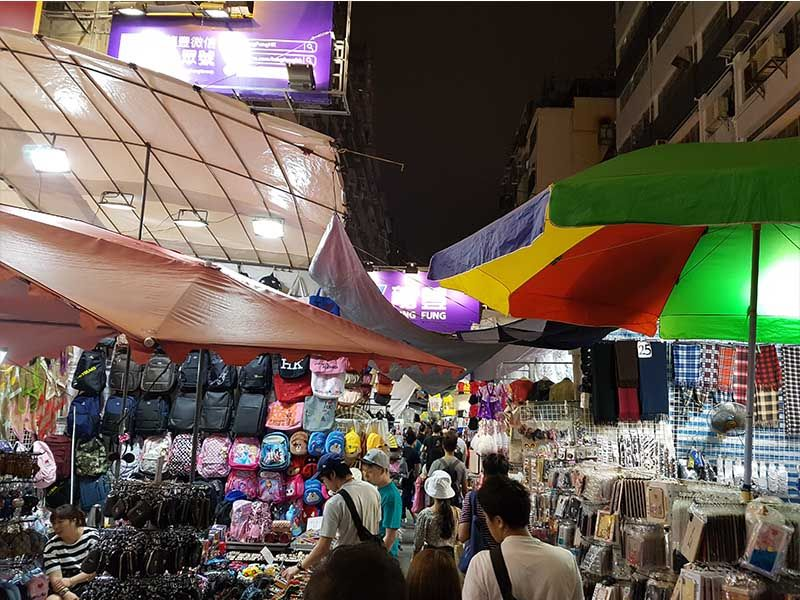 Ladies Market en Hong Kong