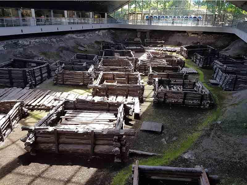 Museo arqueológico de casas antiguas de Bielorrusia