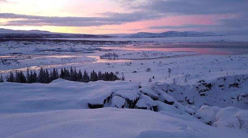 Paisajes nevados del Círculo Dorado de Islandia