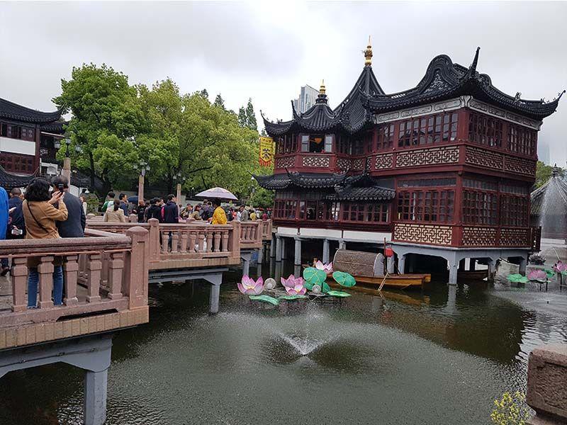 Puente en zigzag de Yuyuan