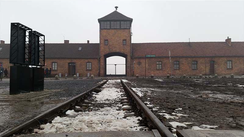 Puerta de entrada a Birkenau