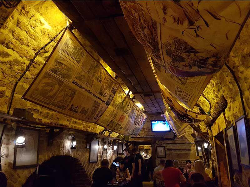 Restaurante Kryivka, el búnker de Lviv