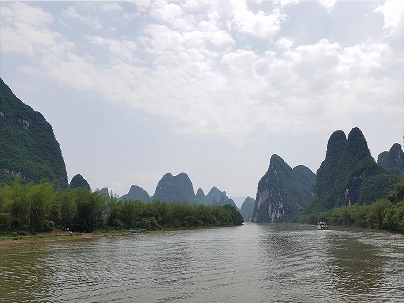 Río Li en el billete de 20 yuanes de China