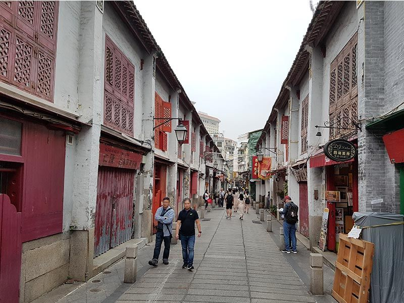 Rua da Felicidade, en Macao
