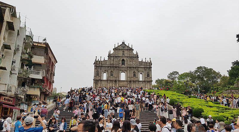 Ruinas de la catedral de San Pablo, en Macao