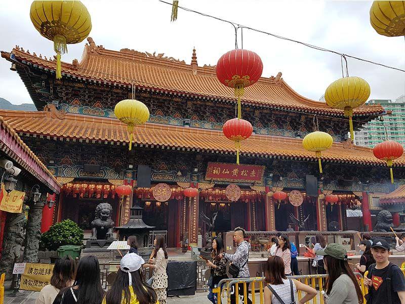 El templo Wong Tai Sin no puede faltar en una visita de un día por Hong Kong