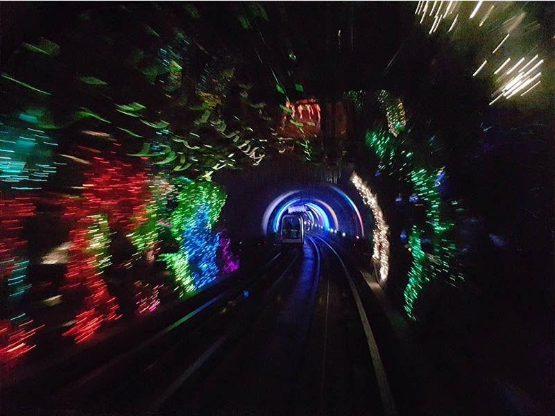 Túnel de luces de Shanghái