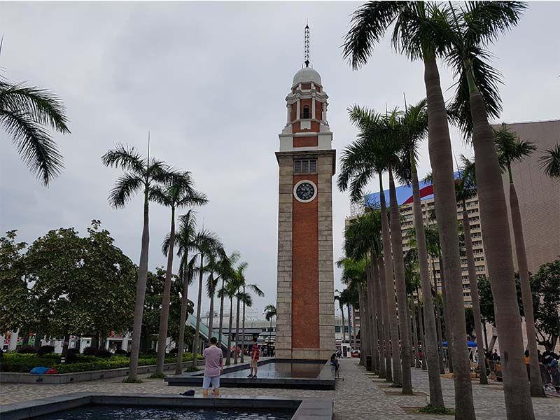 Antigua torre del reloj, en Kowloon
