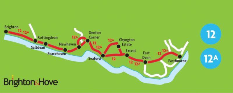 lineas 12 y 12A de bus en Brighton
