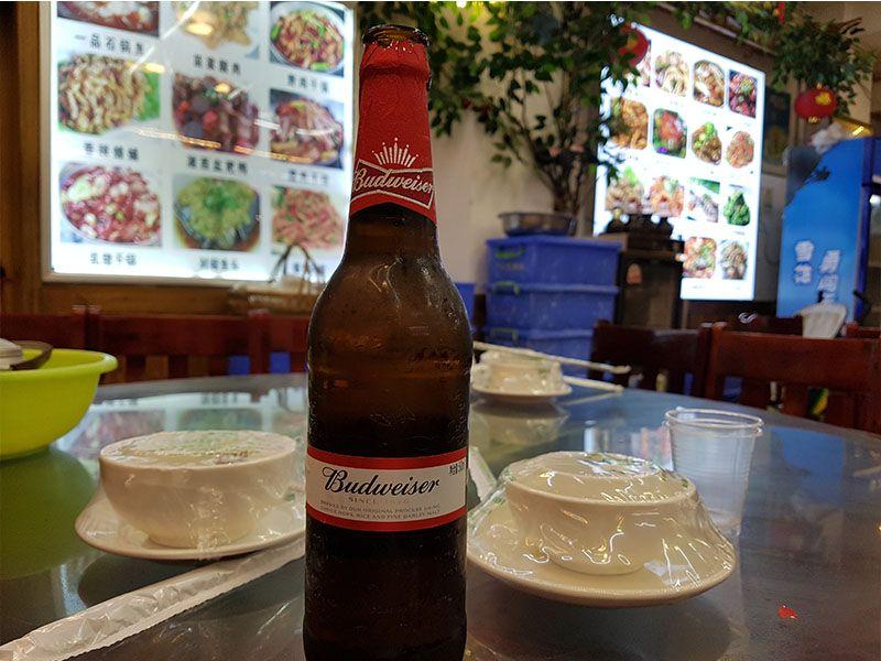 La cerveza en China tiene muy poca graduación