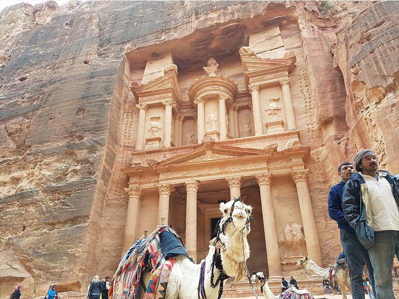 Ir de Amán a Petra es un trayecto común