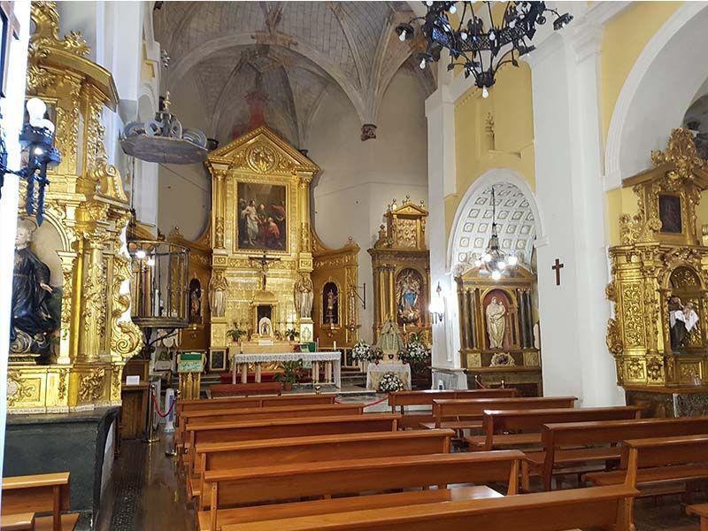 Interior de la iglesia de Santo Tomé