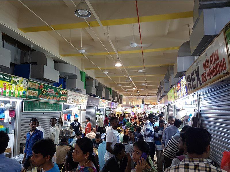 Mercado donde cambiar moneda en Singapur