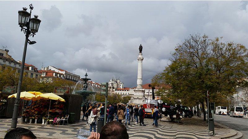 Plaza del Rossio, en el centro de Lisboa