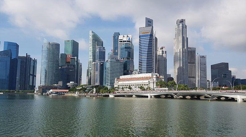 Zona de rascacielos en Singapur