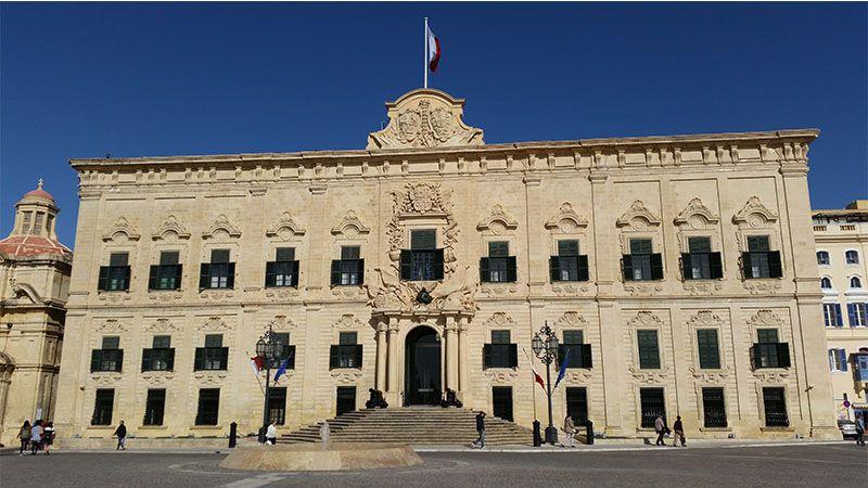 Edificio Auberge de Castille, en La Valeta