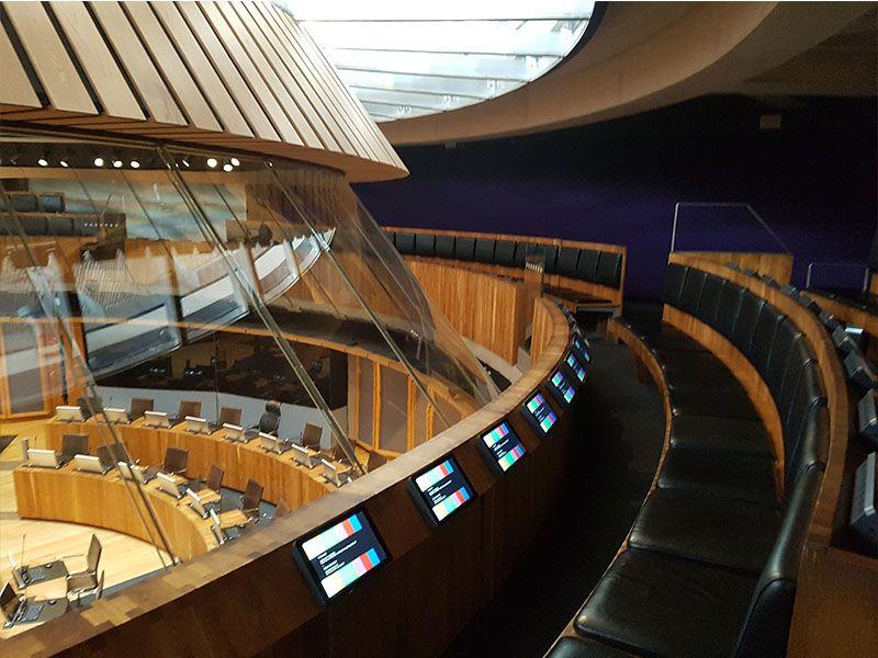 Interior del Senado de Gales