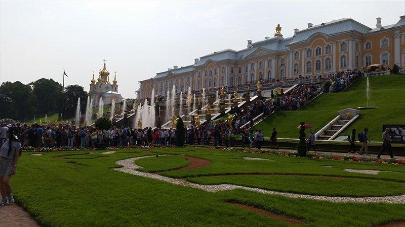 Palacio de Peterhof, en San Petersburgo