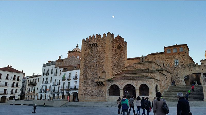 La Plaza Mayor de Cáceres