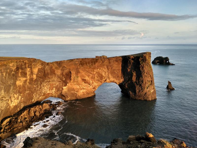 arco de dyrholaey islandia