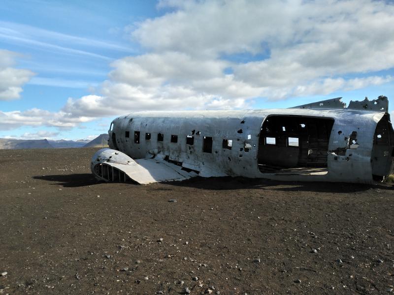 avión estrellado islandia