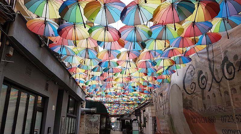 Calle de los paraguas de Bucarest