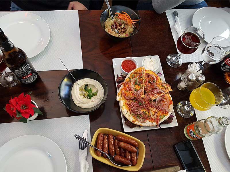 Restaurante libanés Fikinia, en el centro de Bucarest