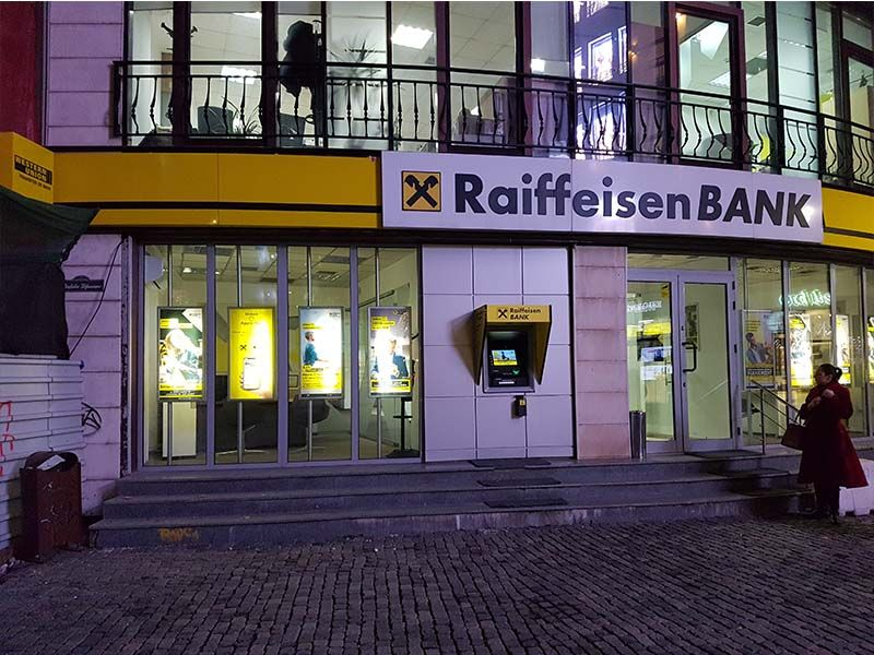 Raiffeisen Bank, banco para sacar dinero en Bucarest