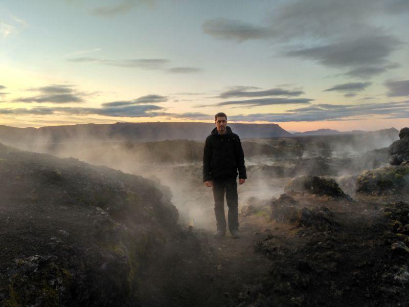 fumarolas área volcánica krafla islandia