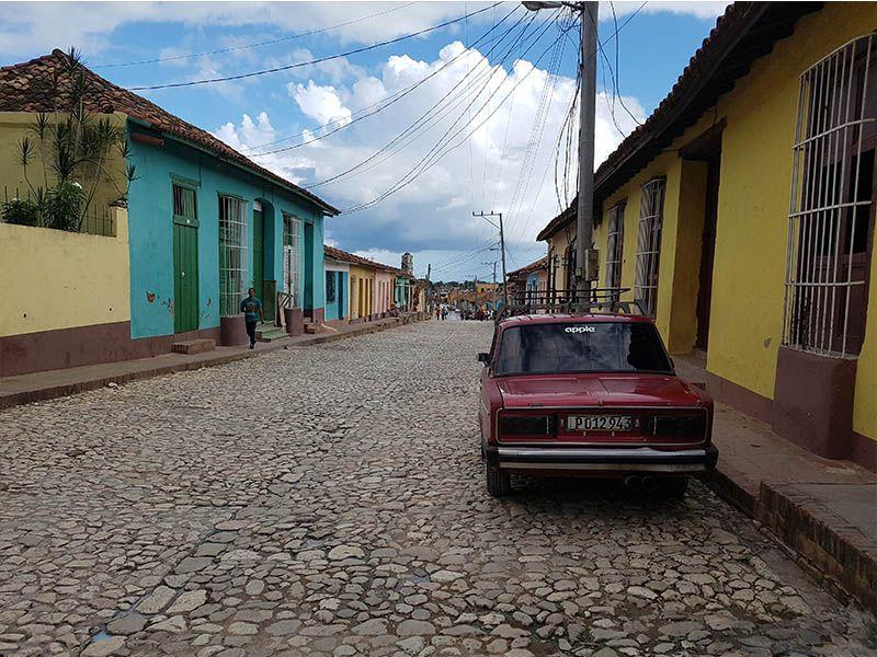 Calle empedrada en Trinidad