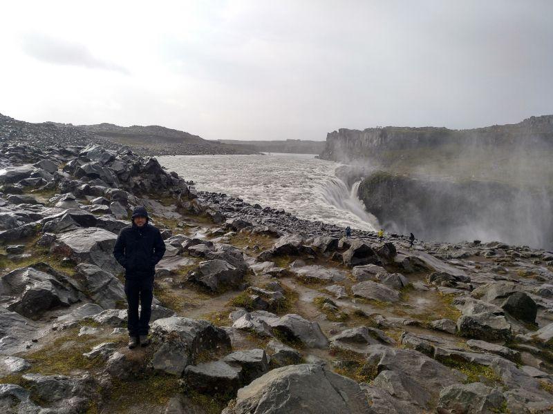 cascada dettifoss en el norte de islandia