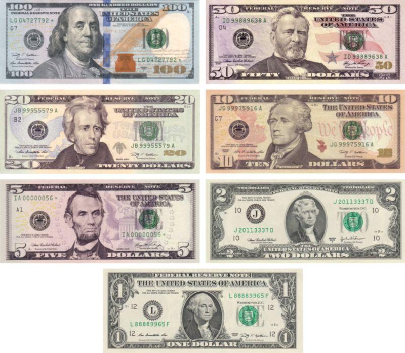 billetes dolares americanos